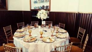 mesa bodas de ouro